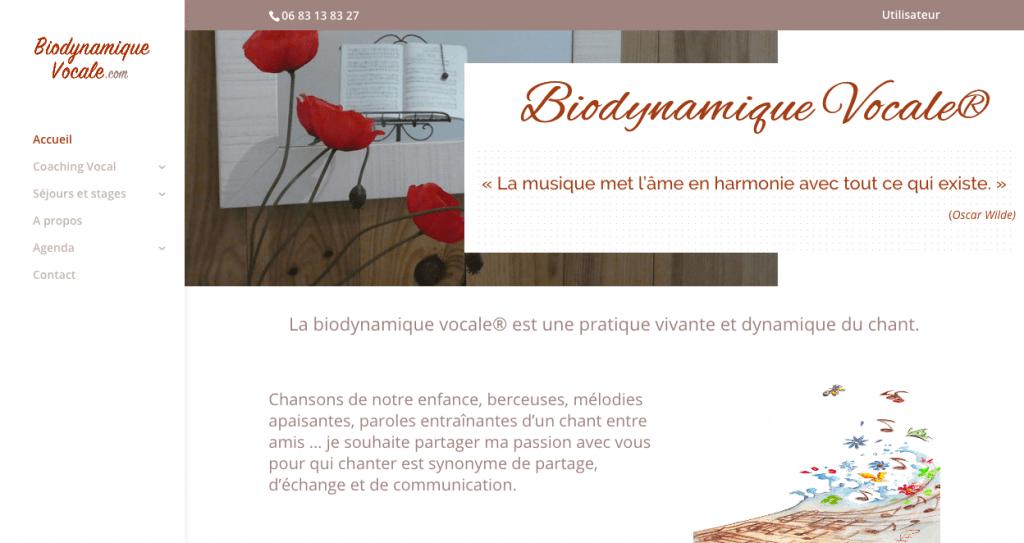 création site biodynamique vocale