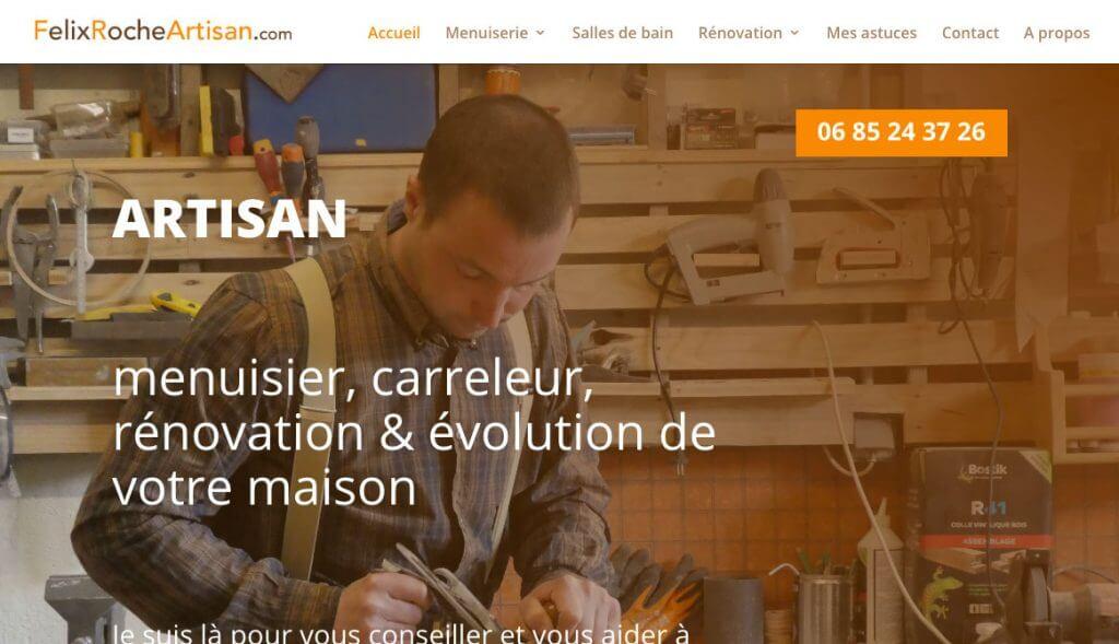 création site FélixRocheArtisan