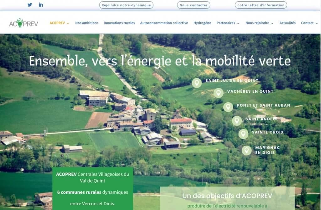 création site internet ACOPREV
