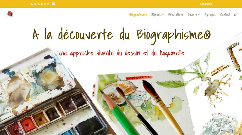 création site biographisme