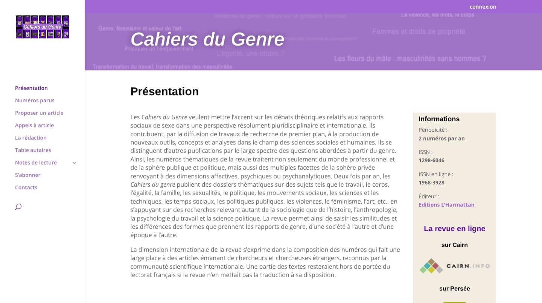revue thématique du cnrs paris