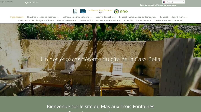 Administration du site La Mas aux Trois Fontaines